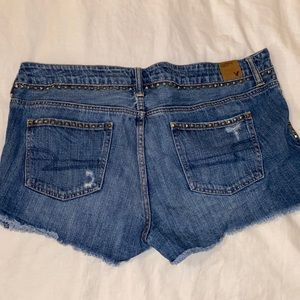 Stud detail Jean shorts
